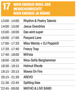 Line Up Donauinselfest 2018 Waves on Fire